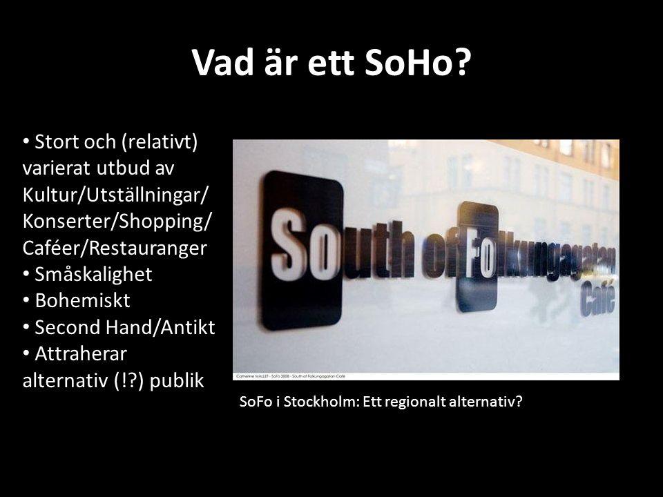 Vad är ett SoHo. SoFo i Stockholm: Ett regionalt alternativ.