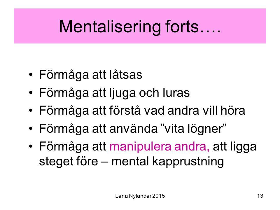 Lena Nylander 201513 Mentalisering forts….