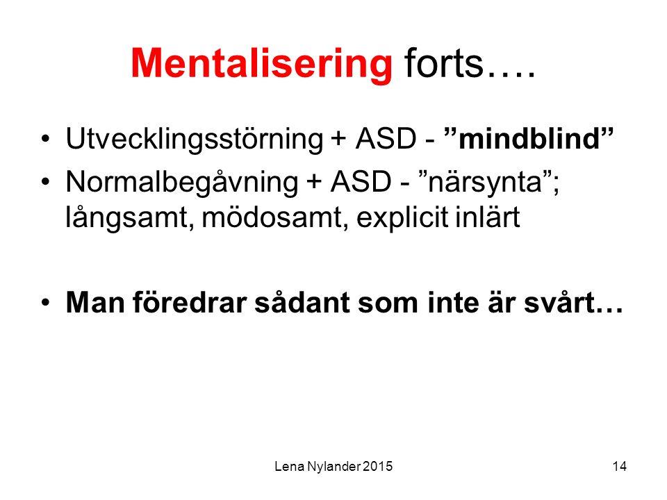 Lena Nylander 201514 Mentalisering forts….