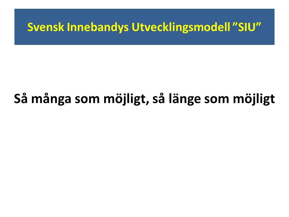 """Svensk Innebandys Utvecklingsmodell """"SIU"""" Så många som möjligt, så länge som möjligt"""