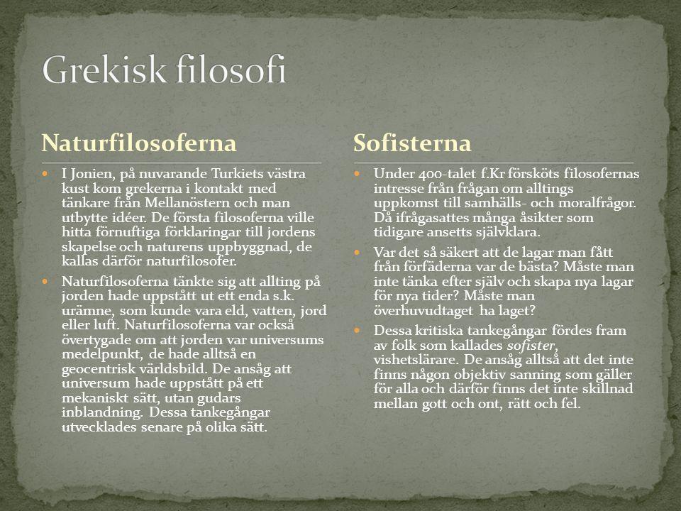 Kultur- och idéhistoria, Eva Nord, Liber, [Stockholm 2009] Idéer och skapande – Kulturhistoria för gymnasiet, Lars-Göran Alm, Natur och Kultur, [Örebro 2004]