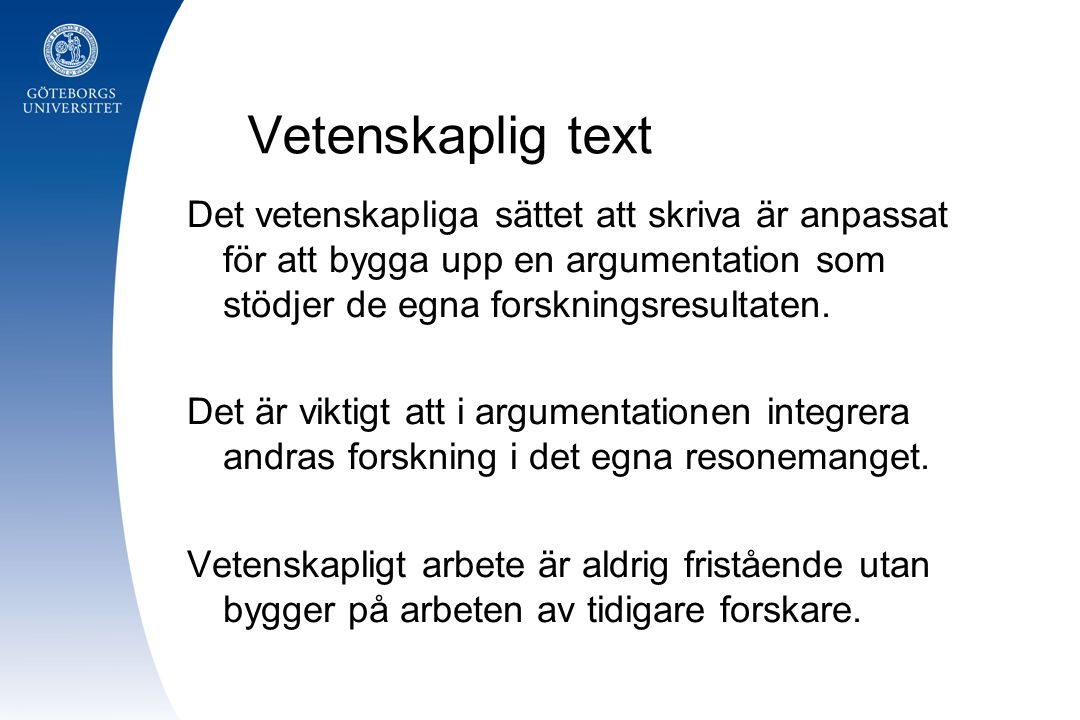 Forskningsprocessens moment ( obs.