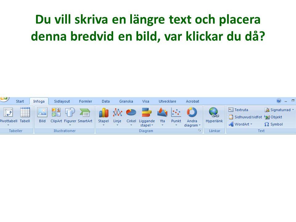 Om man klickar på ordet SvD ska man komma till Svenskans hemsida. Var klickar du då?