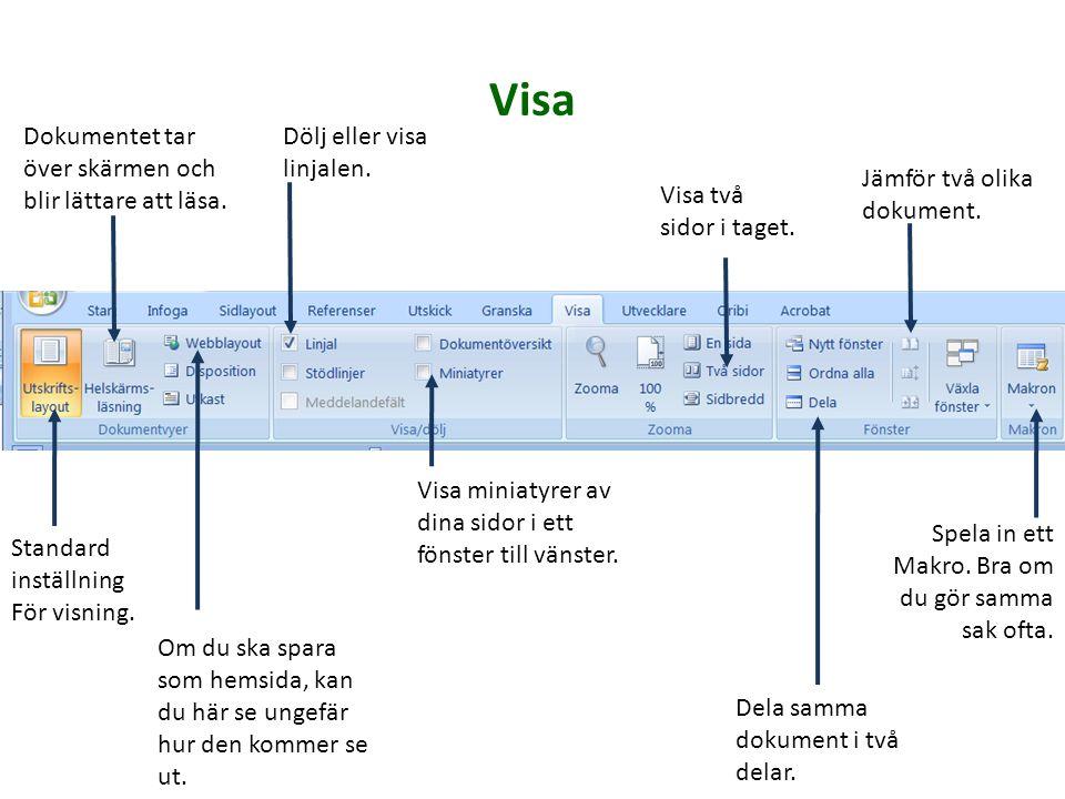 Bra! Nu går vi vidare med Visa