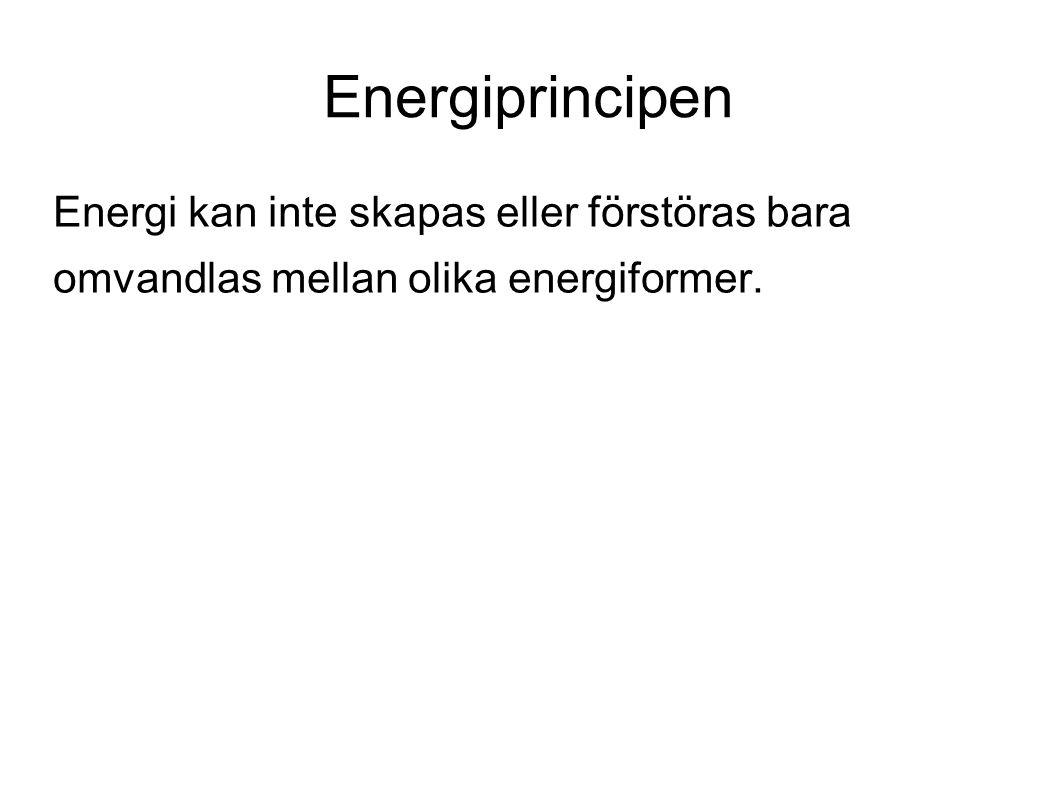 Energi Ge exempel på olika sätt att lagra energi.Olika energislags energikvalitet.