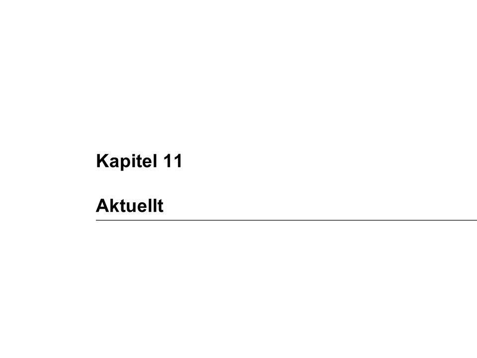 Kapitel 11 Aktuellt