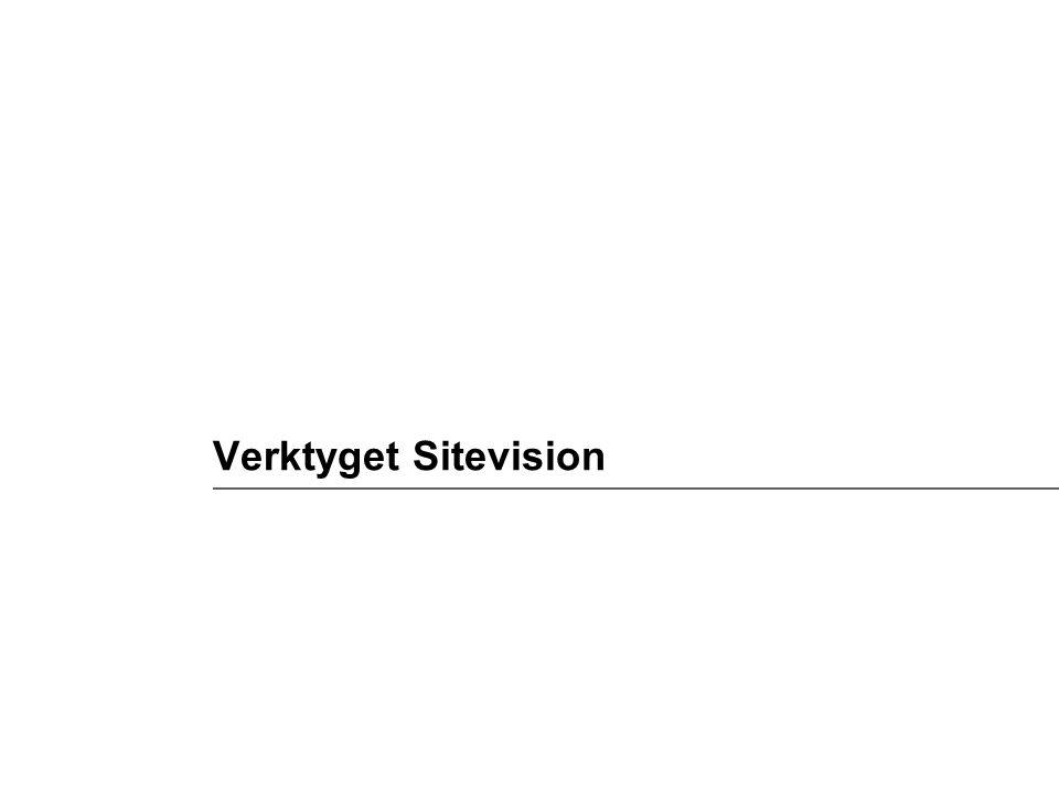 Verktyget Sitevision