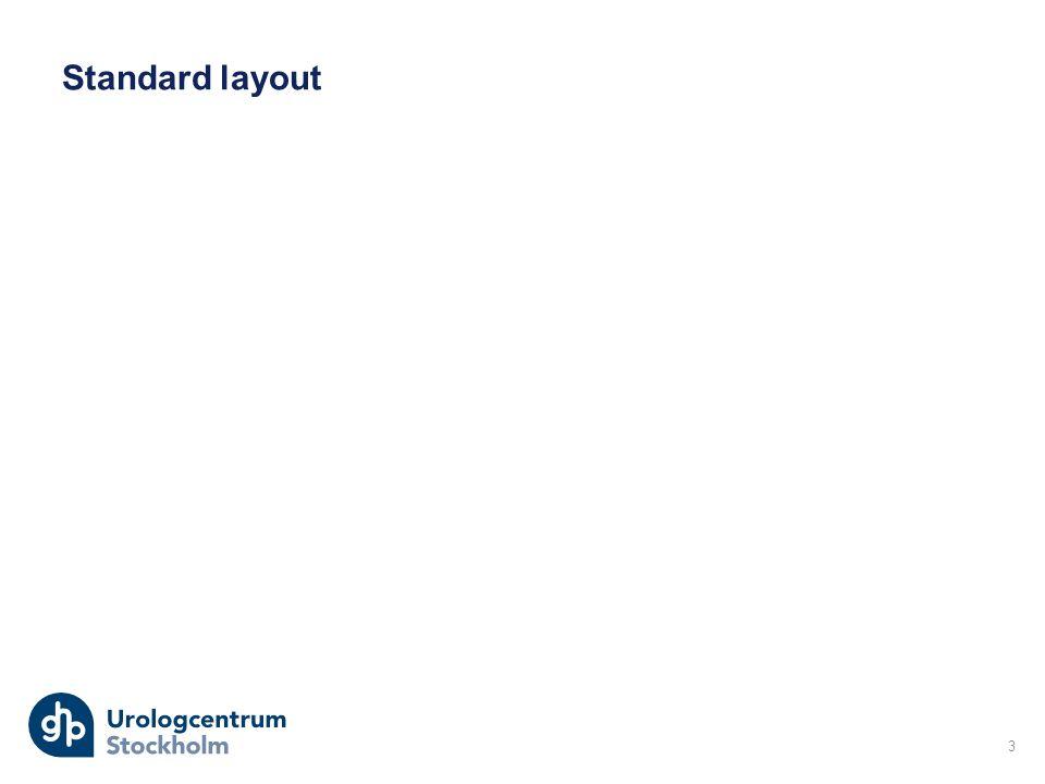 Standard layout 3