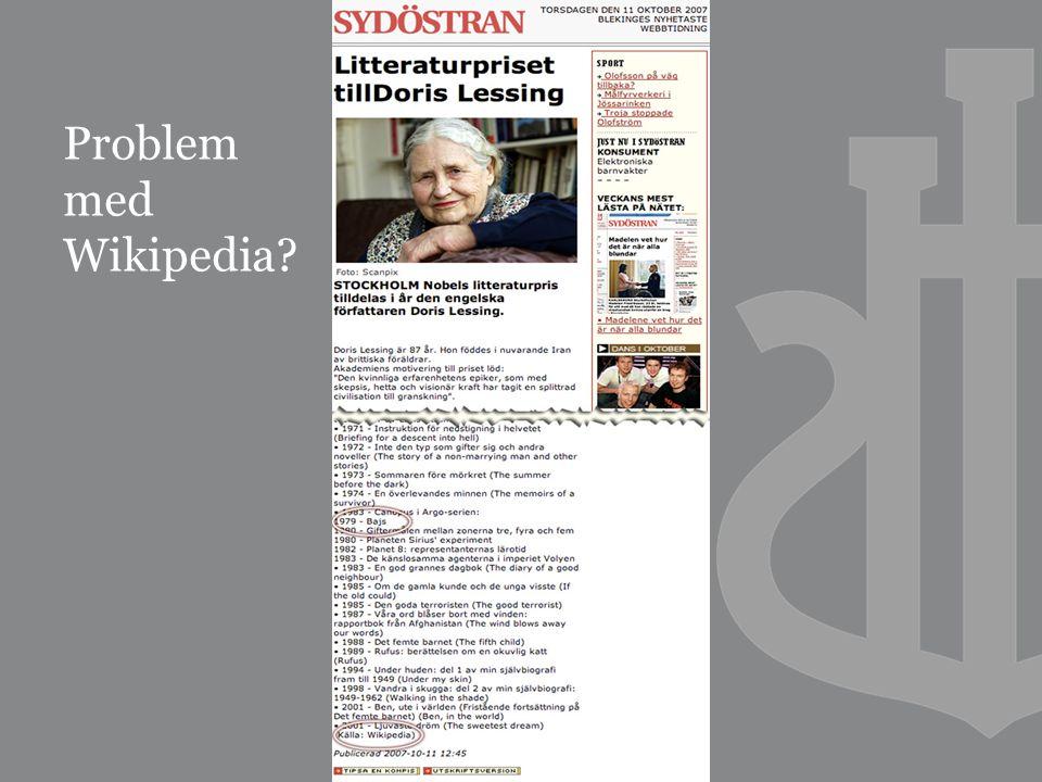 Problem med Wikipedia?