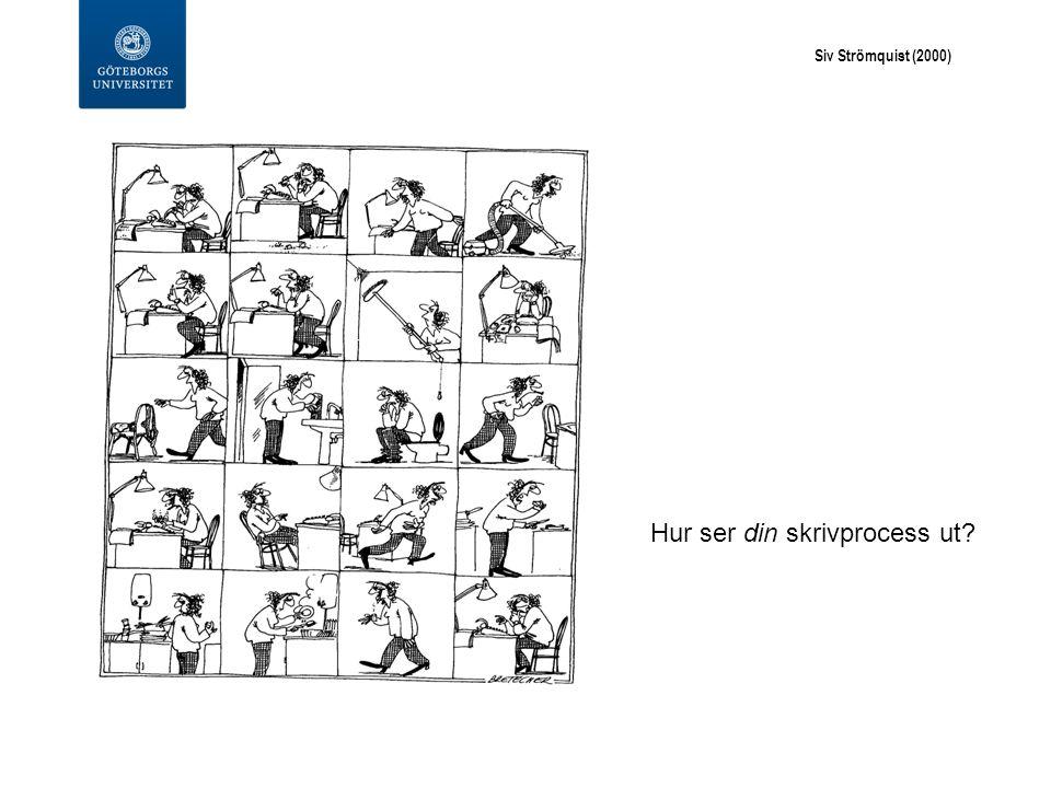 Siv Strömquist (2000) Hur ser din skrivprocess ut?