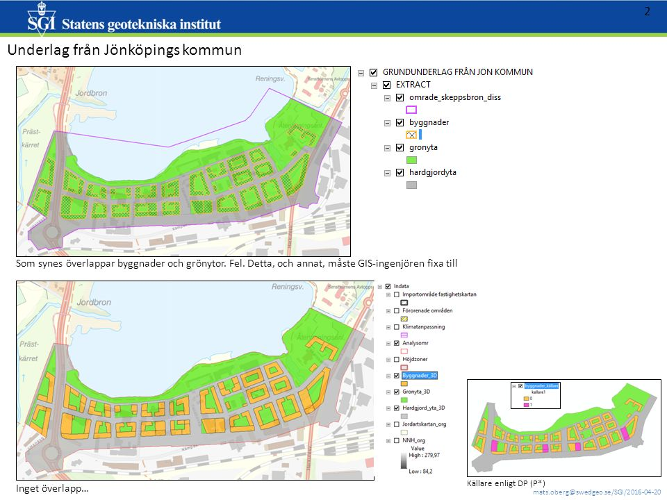 mats.oberg@swedgeo.se/SGI/2016-04-20 13 Jordlager - verkliga GTK (geotekniker har bedömt GTK utifrån underlag såsom geotekniska borrningar mm) Huvudytan
