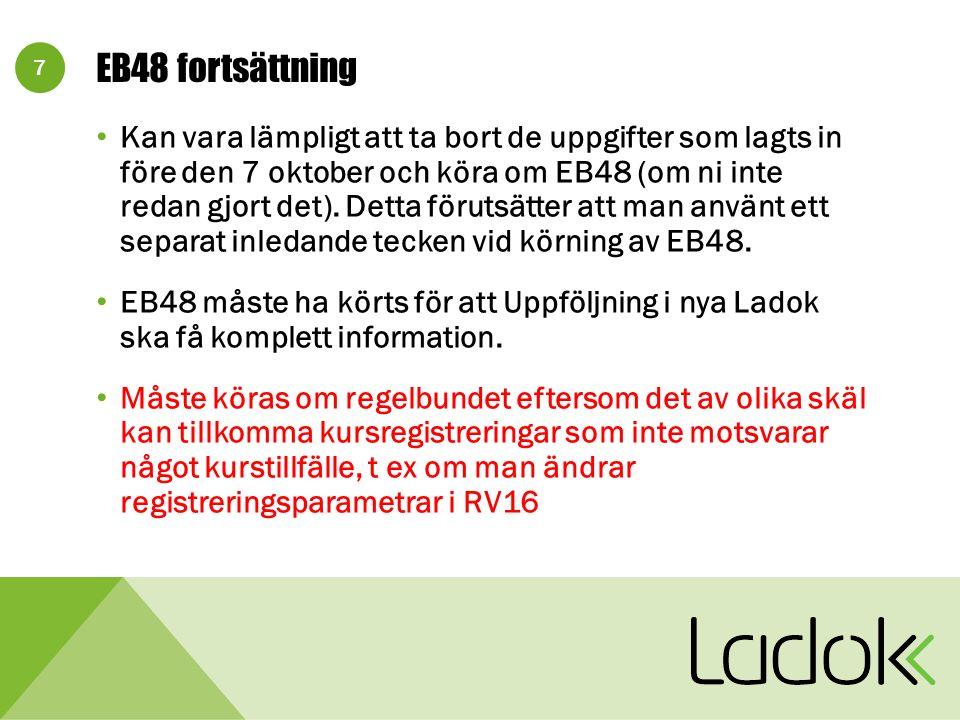 18 Mer info på ladok.se Klicka på Nya Ladok , sedan på Registervård Mina kontaktuppgifter: E-post Hans.Persson@stu.lu.seHans.Persson@stu.lu.se Tel arbete 046-2227060 Mobil 070-5344244