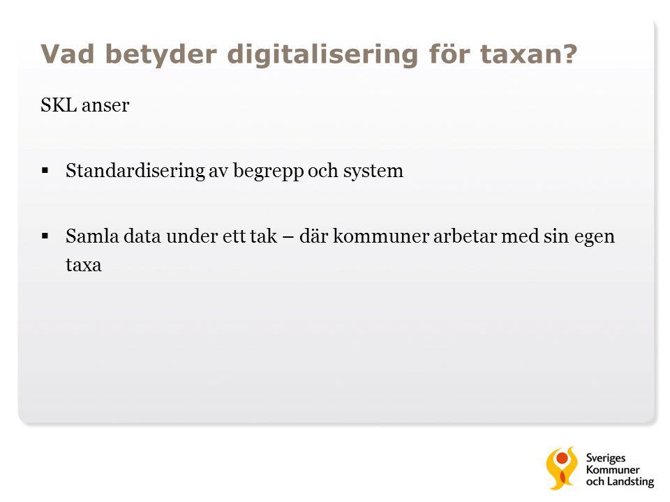 Vad betyder digitalisering för taxan.