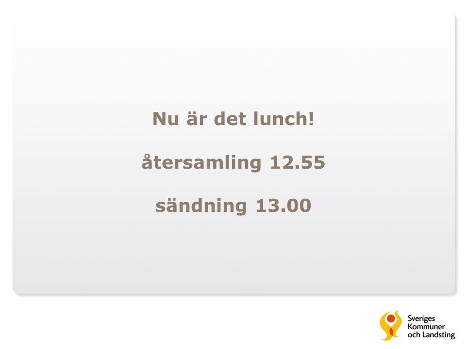 Nu är det lunch! återsamling 12.55 sändning 13.00