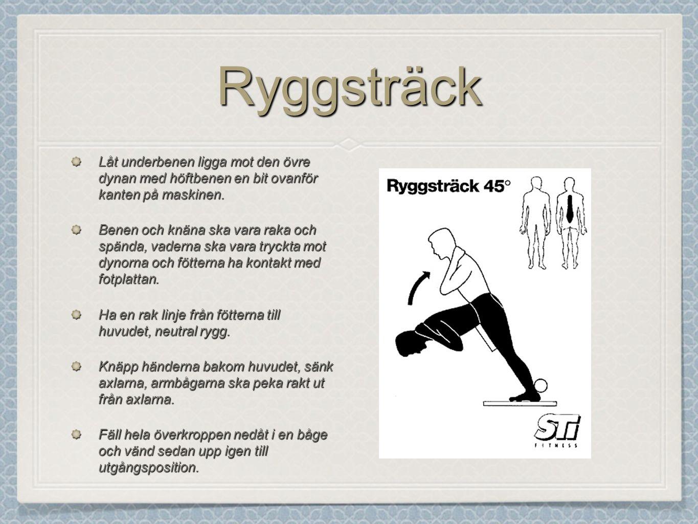 HöftlyftHöftlyft Lägg dig på rygg med fötterna på en medicinboll.