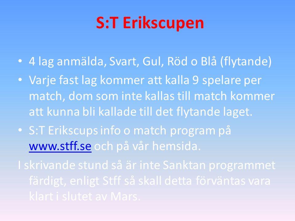 Handelsbanken Globen Cup Speldag, Lördagen den 9/4. Spelprogram finns på vår hemsida.