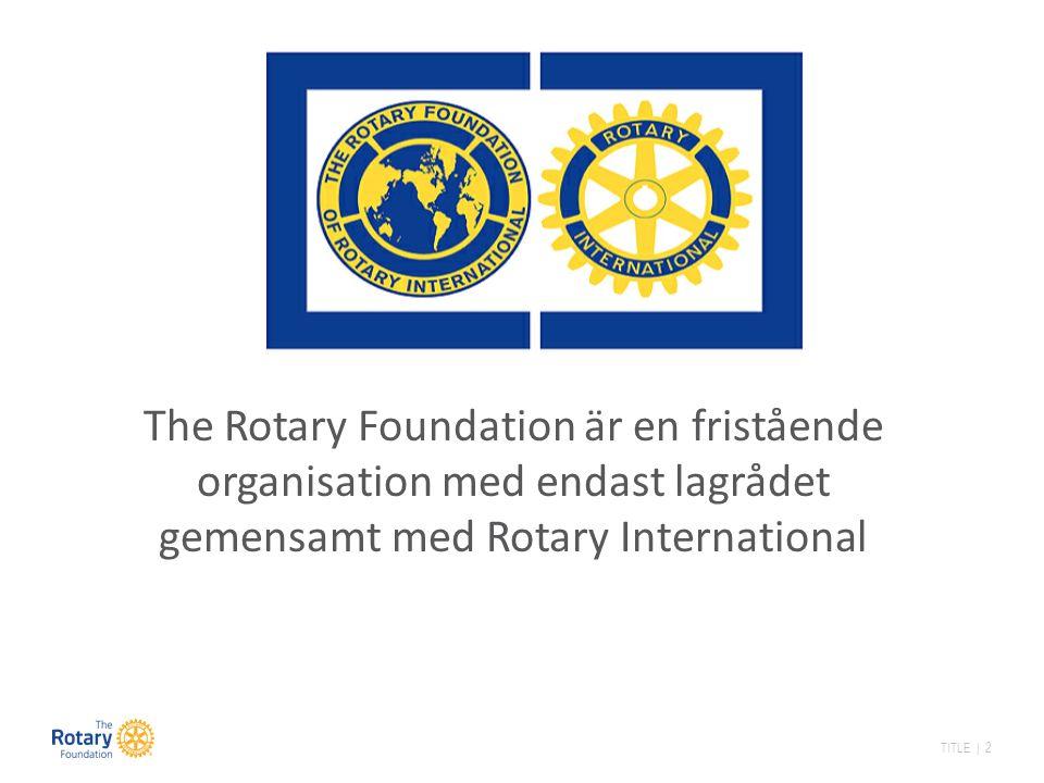 TITLE | 3 Rotary Foundation är den finansiella kraft som ger Rotary internationell legitimitet.