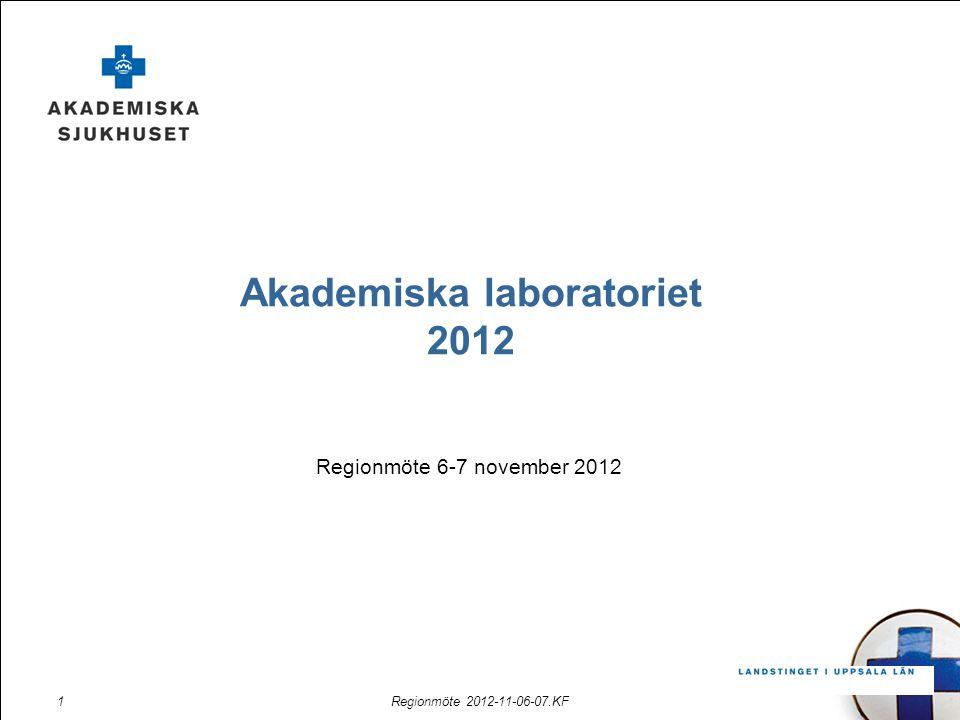 Regionmöte 2012-11-06-07.KF1 Akademiska laboratoriet 2012 Regionmöte 6-7 november 2012