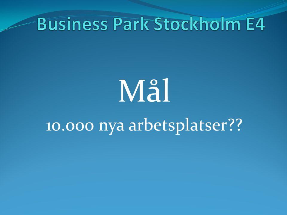Mål 10.000 nya arbetsplatser