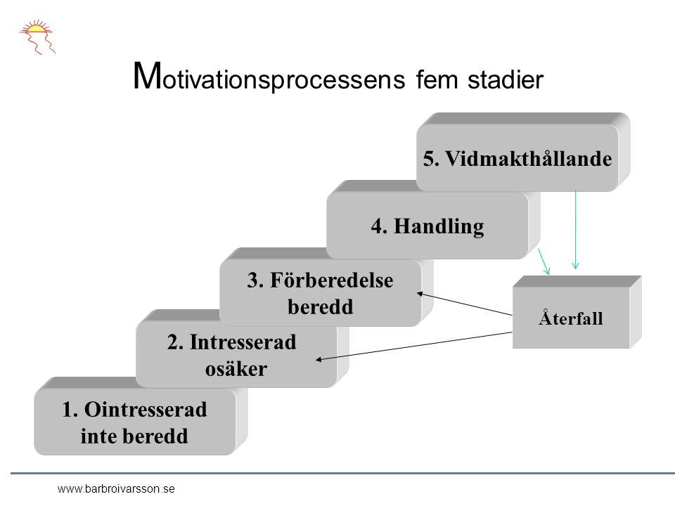 www.barbroivarsson.se M otivationsprocessens fem stadier 1.