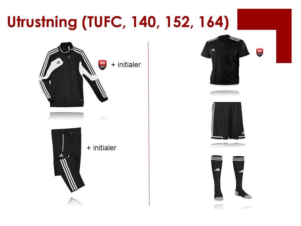 Utrustning (TUFC, 140, 152, 164) + initialer