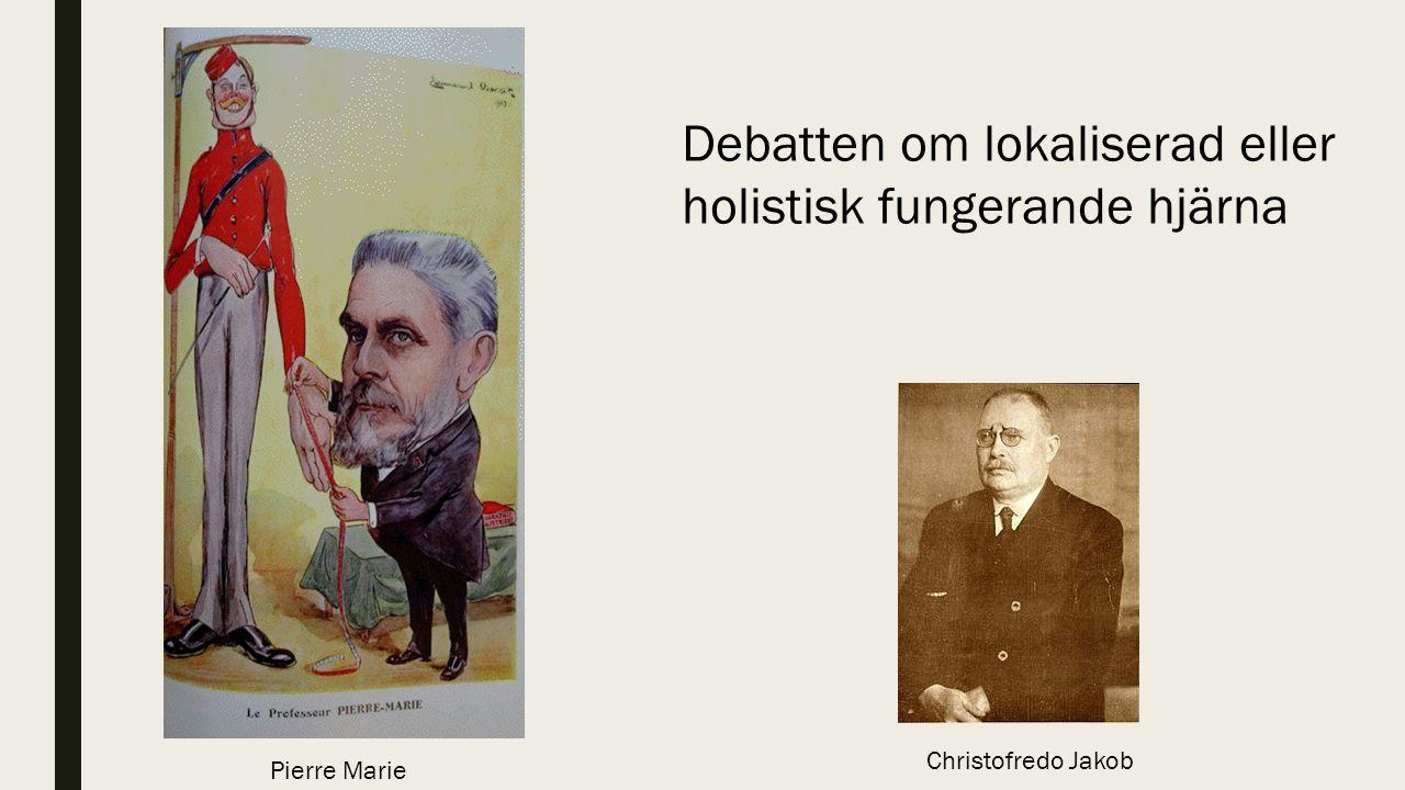 Pierre Marie Christofredo Jakob Debatten om lokaliserad eller holistisk fungerande hjärna