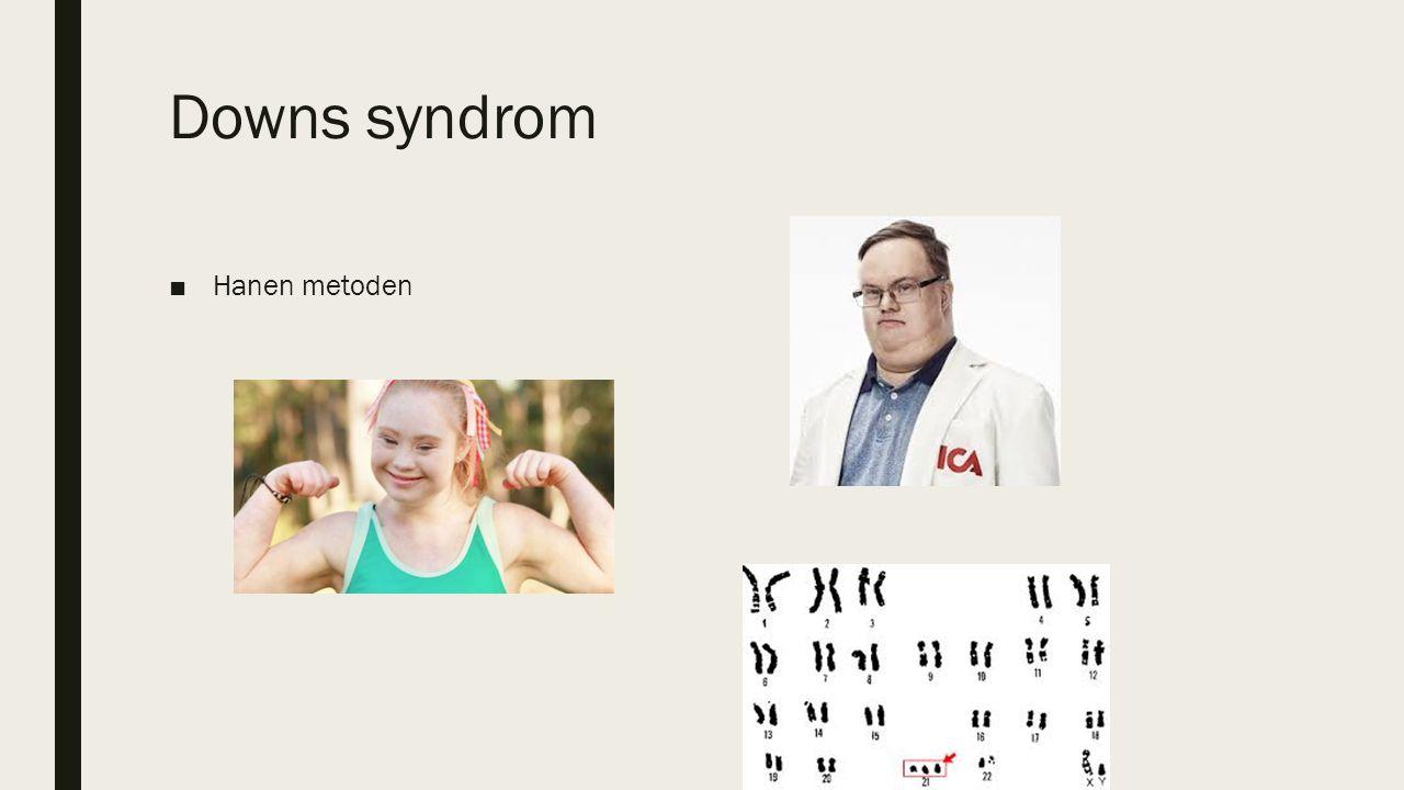Downs syndrom ■Hanen metoden