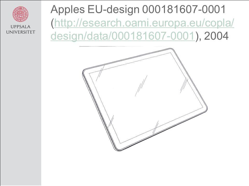 Apples EU-design 000181607-0001 (http://esearch.oami.europa.eu/copla/ design/data/000181607-0001), 2004http://esearch.oami.europa.eu/copla/ design/data/000181607-0001