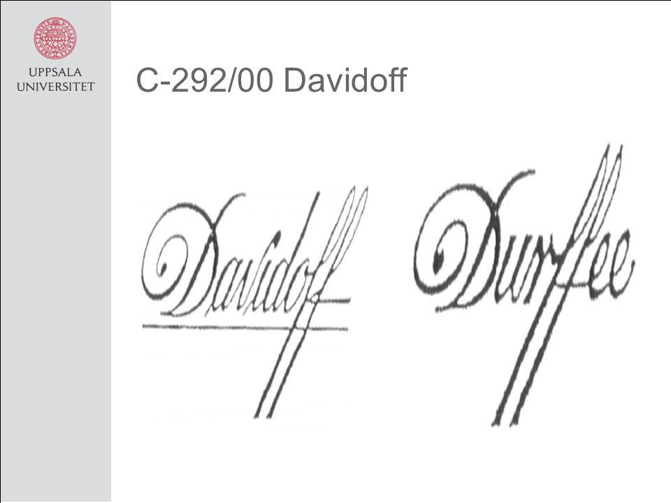 C-292/00 Davidoff