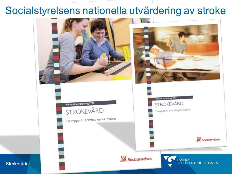 Strokerådet Socialstyrelsens nationella utvärdering av stroke