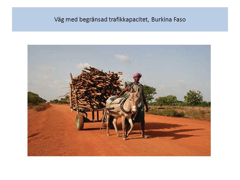 Väg med begränsad trafikkapacitet, Burkina Faso