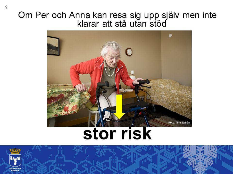 9 Om Per och Anna kan resa sig upp själv men inte klarar att stå utan stöd stor risk Foto: Tina Stafrén