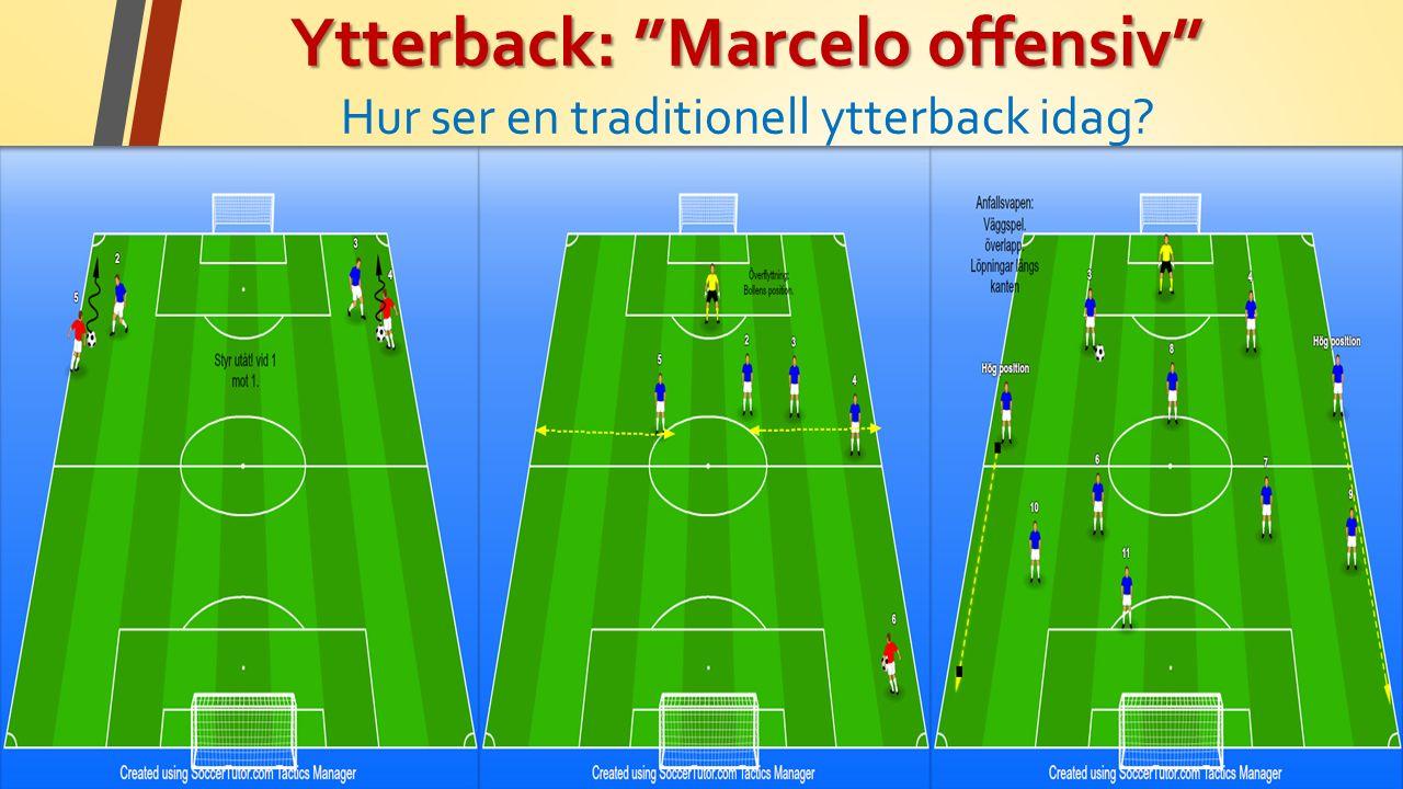 Ytterback: Marcelo offensiv Ytterback: Marcelo offensiv Hur ser en traditionell ytterback idag