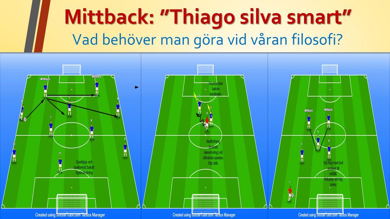 Mittback: Thiago silva smart Mittback: Thiago silva smart Vad behöver man göra vid våran filosofi
