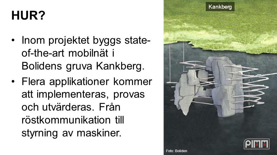 Kankberg HUR. Inom projektet byggs state- of-the-art mobilnät i Bolidens gruva Kankberg.