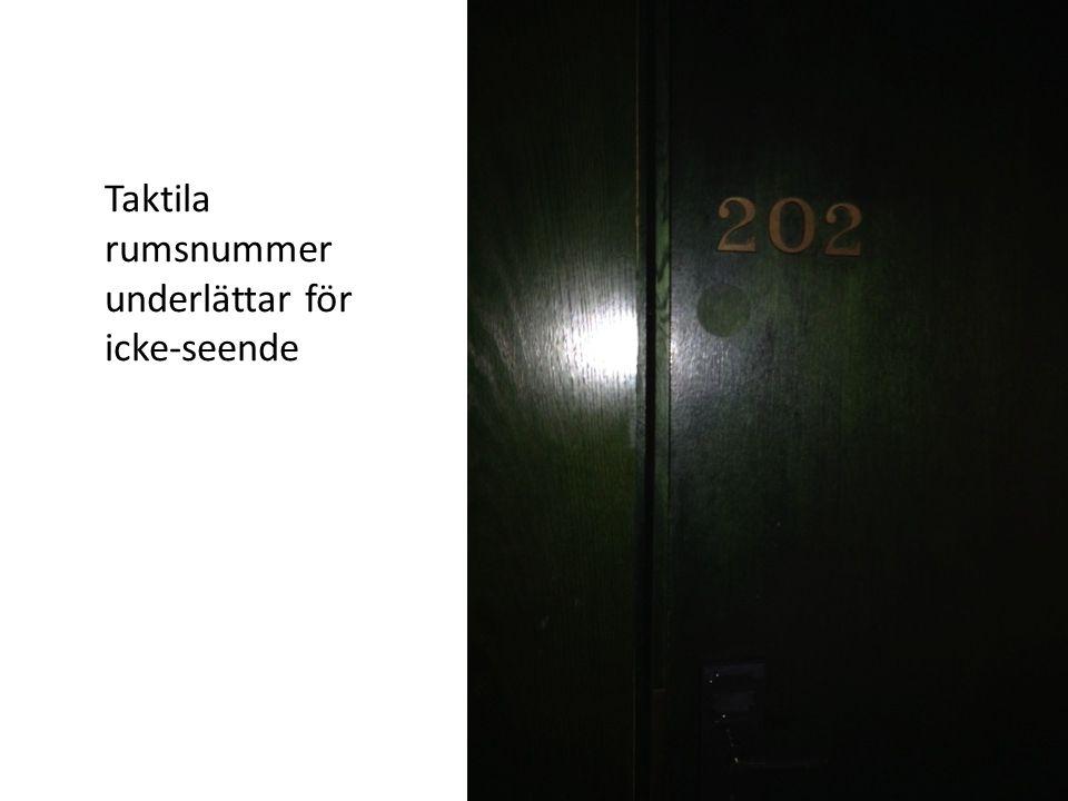 Taktila rumsnummer underlättar för icke-seende