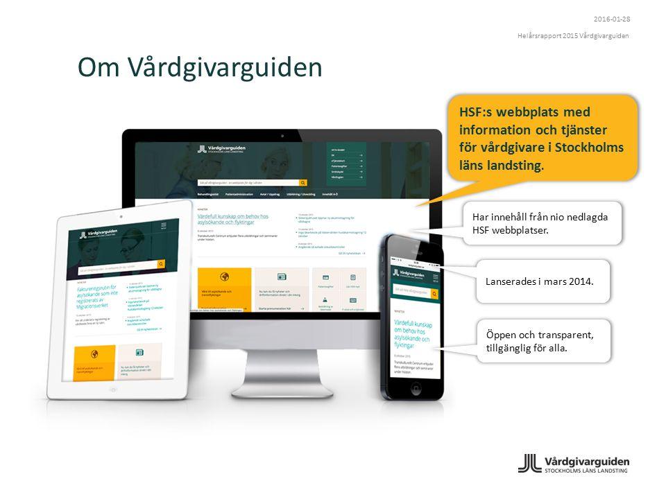 Om Vårdgivarguiden HSF:s webbplats med information och tjänster för vårdgivare i Stockholms läns landsting.