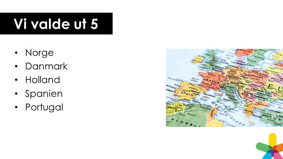 Vi valde ut 5 Norge Danmark Holland Spanien Portugal
