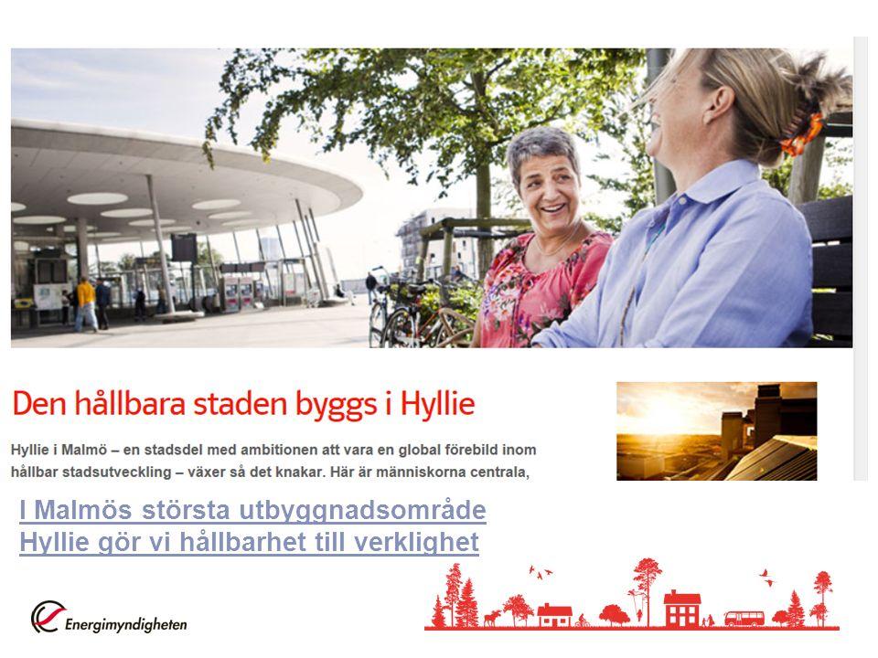I Malmös största utbyggnadsområde Hyllie gör vi hållbarhet till verklighet