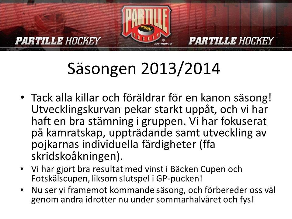 Säsongen 2013/2014 Tack alla killar och föräldrar för en kanon säsong.