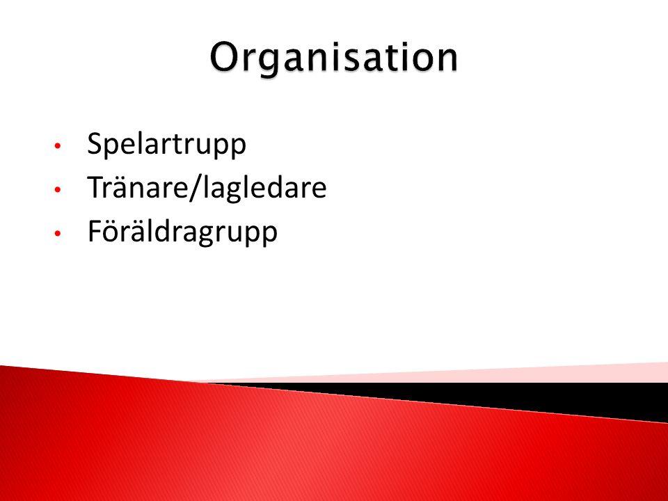 Spelartrupp Tränare/lagledare Föräldragrupp