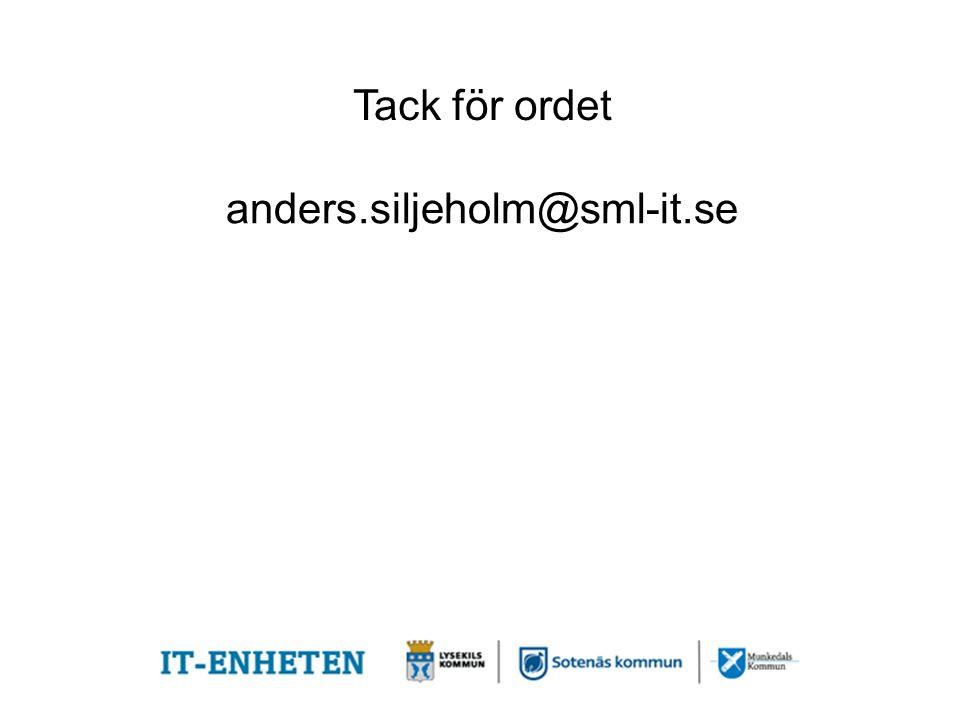 Tack för ordet anders.siljeholm@sml-it.se