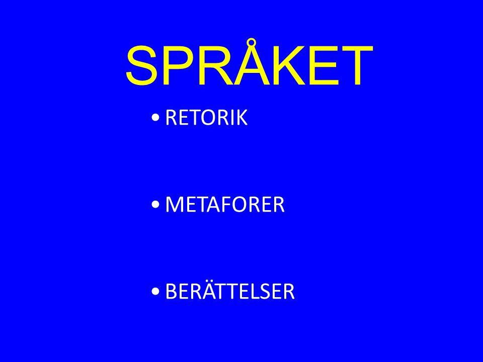 SPRÅKET RETORIK METAFORER BERÄTTELSER