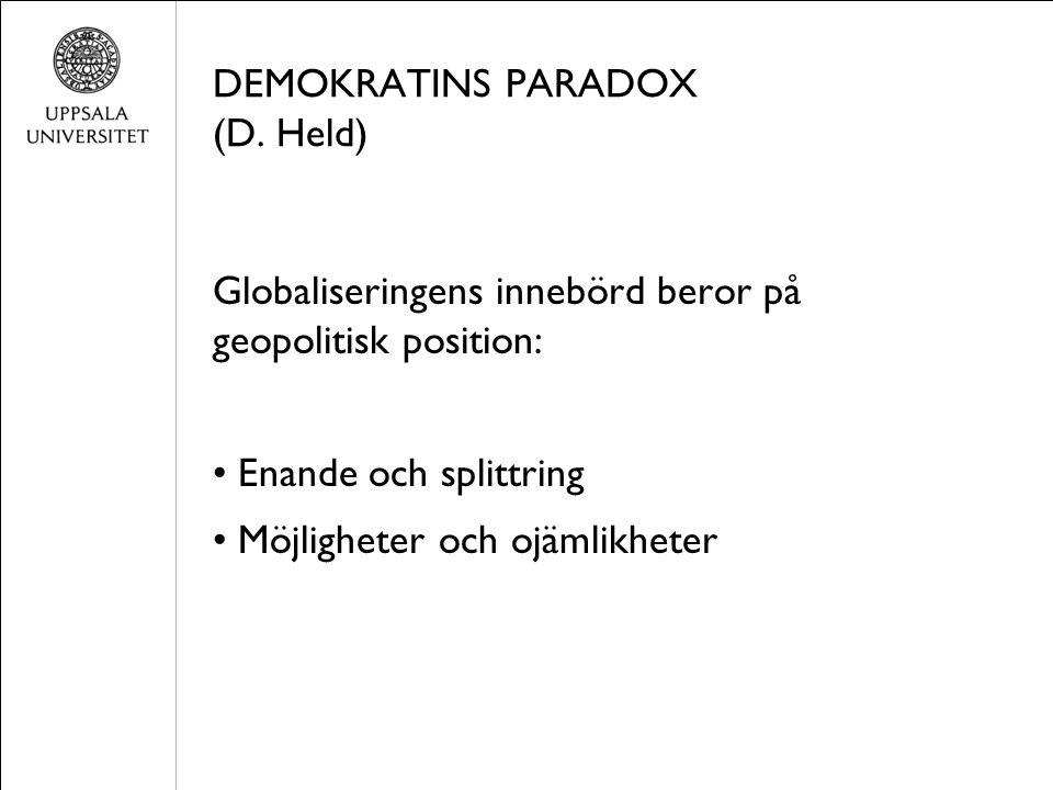 DEMOKRATINS PARADOX (D.