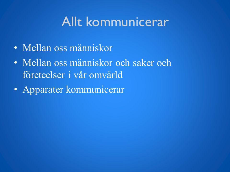 Delar i kommunikation Verbalt budskap Icke verbalt budskap Kroppsspråk, gester, mimik, hållning Språkkoder och slang Digital kommunikation Social kompetens