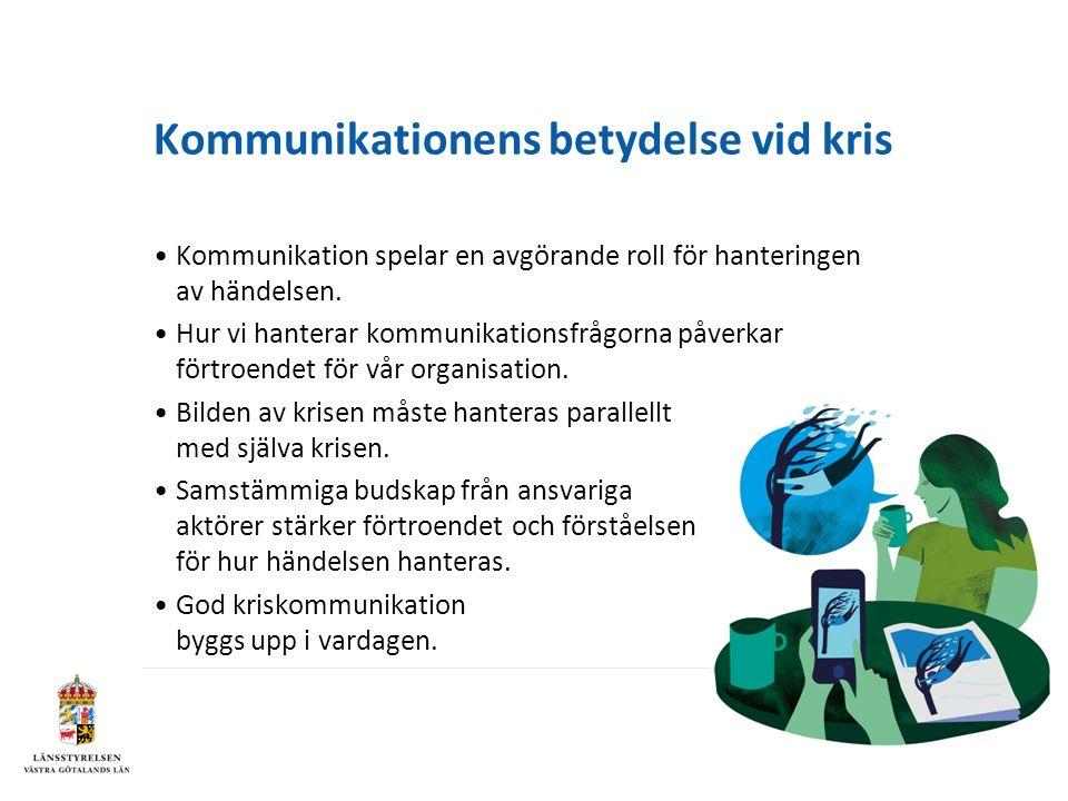 Kommunikationens betydelse vid kris Kommunikation spelar en avgörande roll för hanteringen av händelsen.