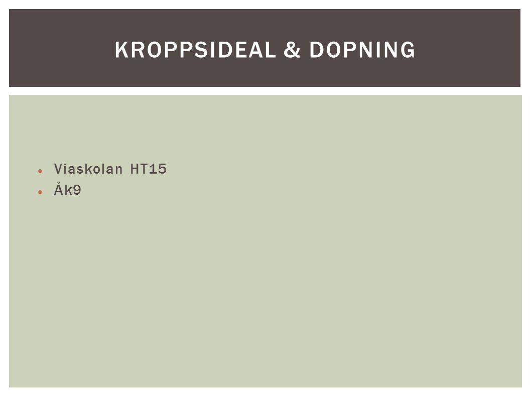 Viaskolan HT15 Åk9 KROPPSIDEAL & DOPNING