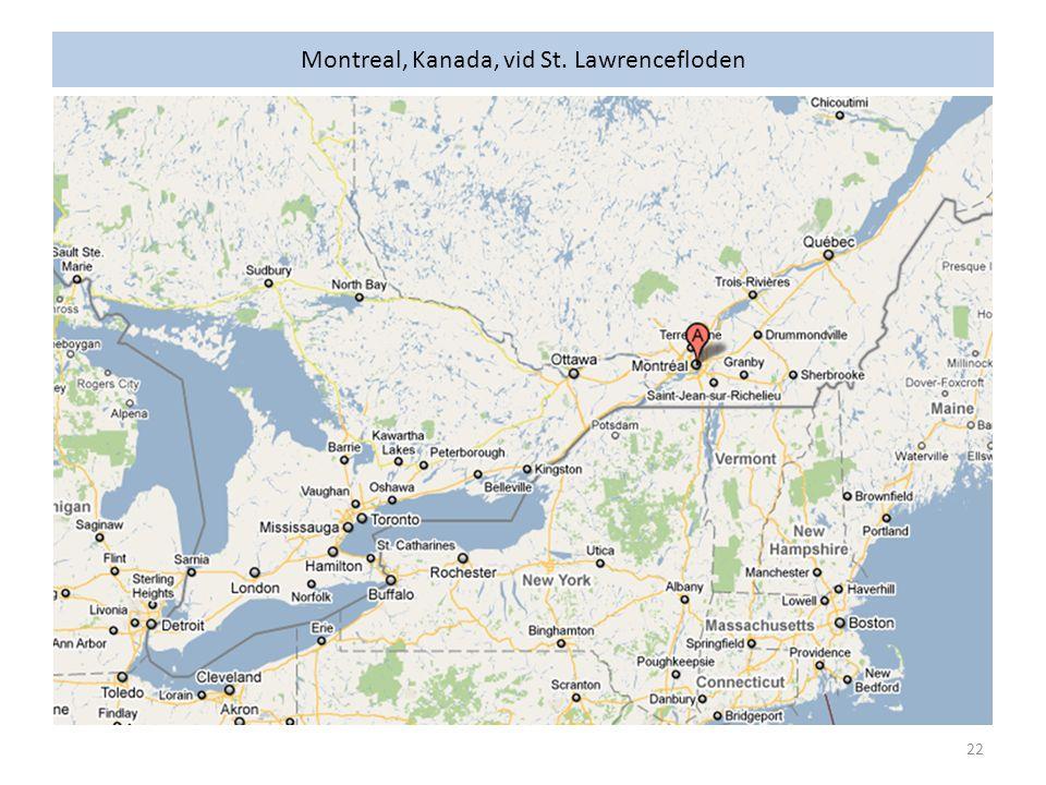 Montreal, Kanada, vid St. Lawrencefloden 22