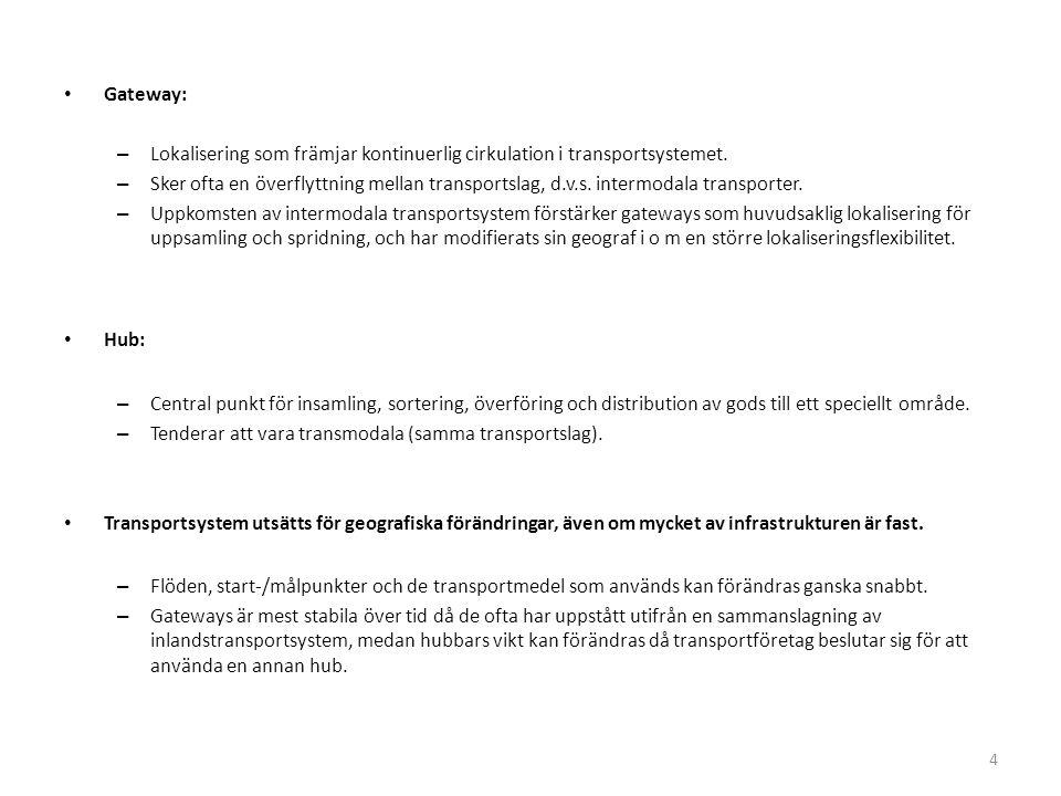 Gateway: – Lokalisering som främjar kontinuerlig cirkulation i transportsystemet.