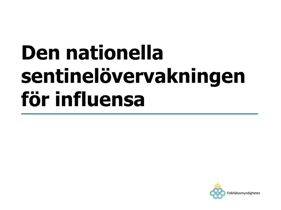 Den nationella sentinelövervakningen för influensa